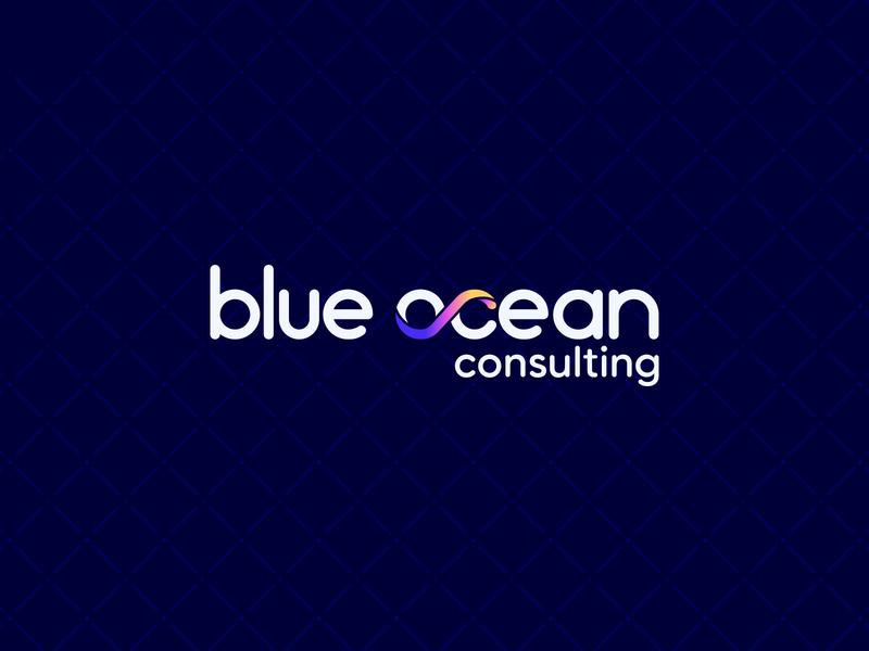 Blue Ocean Consulting Logo healthcare logo healthcare wordmark logo wordmarks wordmark logotype logodesign blue colourful vector gradient branding logo design logo