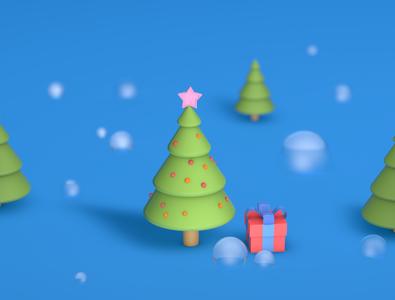 Christmas Tree rendered rendering render gift star christmas illustration christmas tree christmas blender 3d blender3d blender cinema 4d cinema4d 3d illustration 3d modeling 3d artist 3d art 3d illustration branding