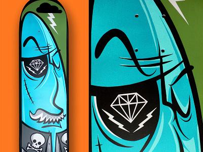 Skate Deck 2015 rad acrylic painting skateboard