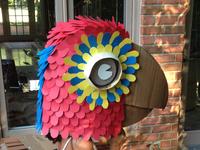 Cardboard parrot mask