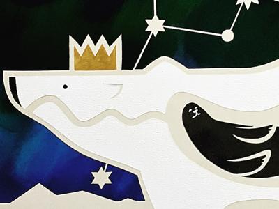 Polar King charaxter illustration painting animal