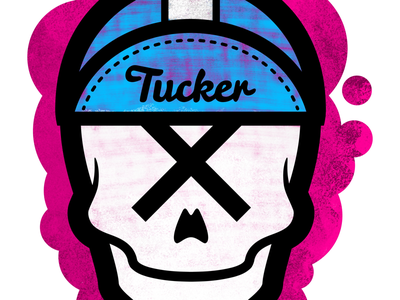 Skulluxe / Tucker London collaboration ipad pro procreate illustration graphic bicycle roadbike cycling skull