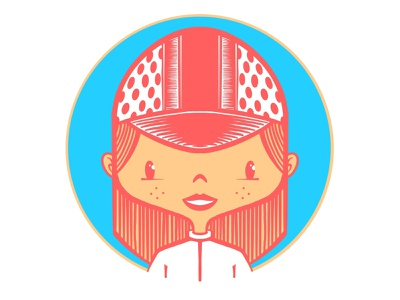 cycling gal vector design procreate character bicycle cycling illustration