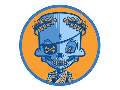 Skully Emperor design illustration emperor procreate character skull