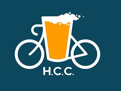 Hangover Cycling Club logo illustration cycling logo beer bicycle