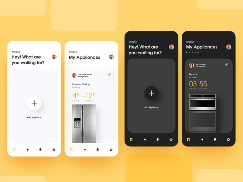 Whirlpool - Appliances App ux app mobileappdesign iosapp ui uxui uxdesign uidesign interfacedesign design