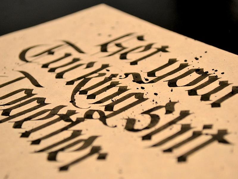 Get your fucking shit together blackletter paper ink black lettering typography type calligraphy