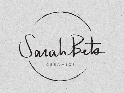SarahBets Cermics Logo texture circle script layout design ceramics identity branding logo