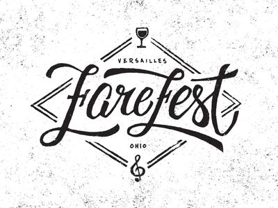 FareFest Logo Concept festival wine texture script layout design ceramics identity branding logo