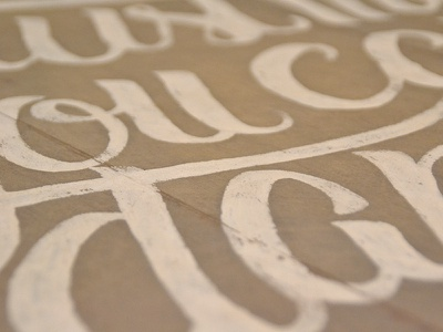 Scripted Details acrylic paint wood lettering art design typography type script