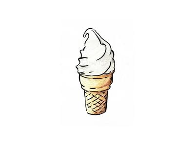 Coney 2012 sketch coloredpencils icecreamcone icecream cone color art design drawing illustration