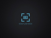 AKA Media Logo typography type icon video identity brand branding logo