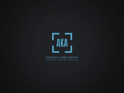 AKA Media Logo typography type icon video identity brand branding logo