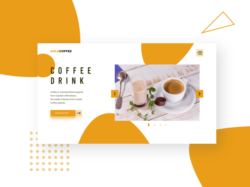 Gold Coffee Landing Page
