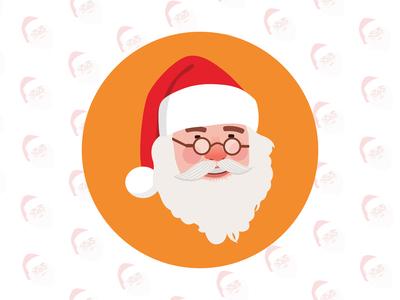 Santa flat illustration