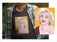 Marilyn Monroe t-shirt design