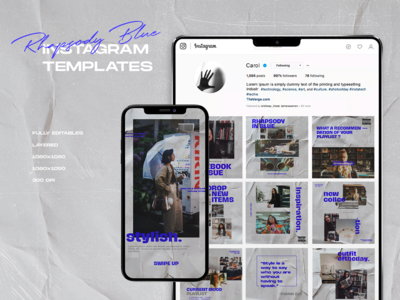 "Instagram Templates ""Rhapsody Blue"""