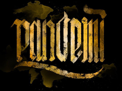 PANDEMI lettering typography type victorian blackletter lettering health disease pandemi covid19