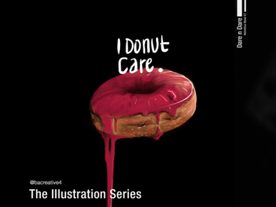 Donut kitchen cook dough cake food painting digital donut