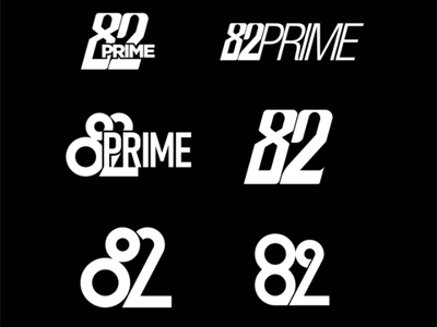82PRIME sport number logotype merchandise apparel clothing