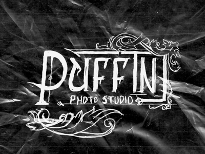 PUFFIN PHOTO STUDIO merchandise apparel logowork elegant smooth laureal flower floral barbershop clothing typography type victorian