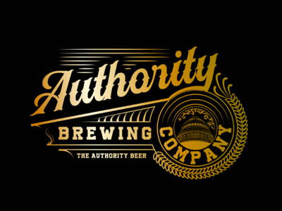 Authority Brewing Co wine grape grapefruit bucket gold logo brewery beer winery