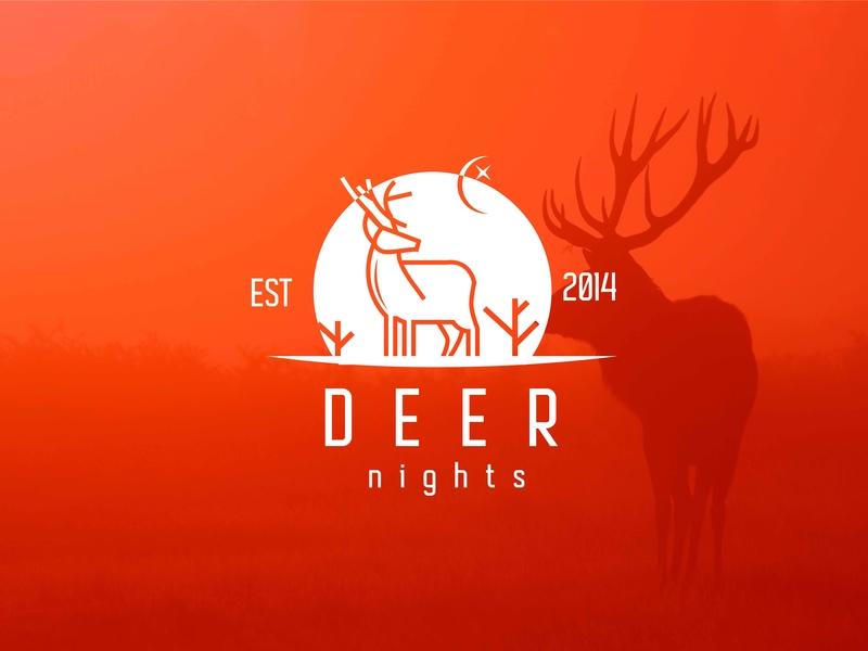 Deer typography type mobile minimalist logo design logoforsale logo design branding logo design lettering illustrator icon flat design branding app vector minimalist logo minimal art minimal logo illustration