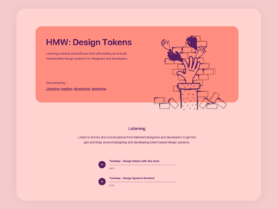 Work in progress - Design tokens