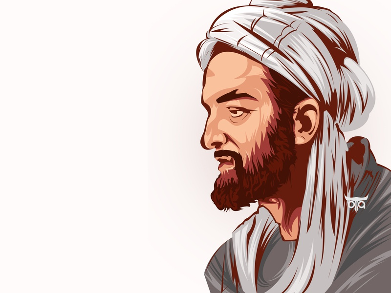 Avicenna Persian Physician invitaion vexel art muslim physician illustration poster vecor potrait photoshop