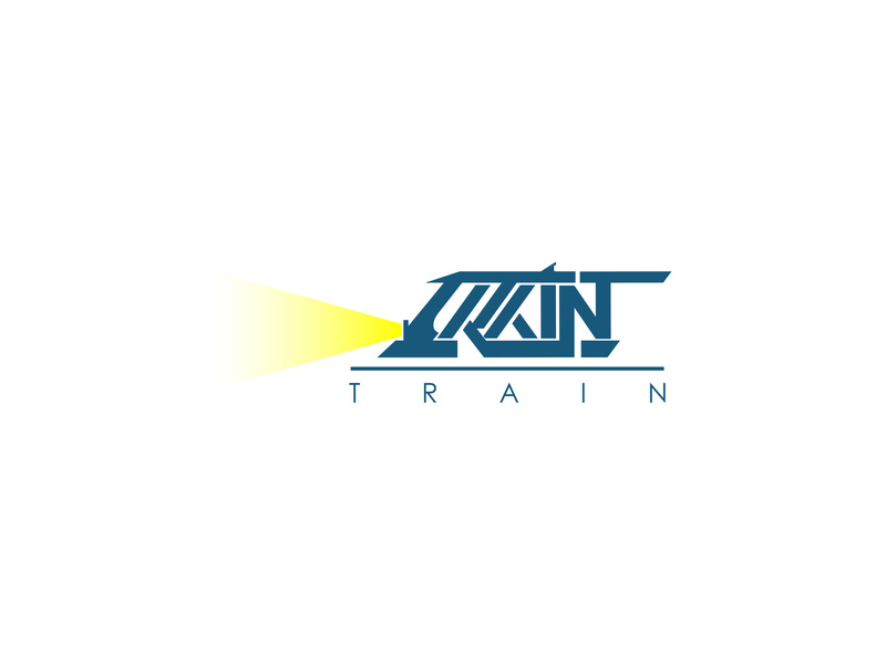 Train Logo illustrator coreldrawx7 train train logo logo inspirations logo