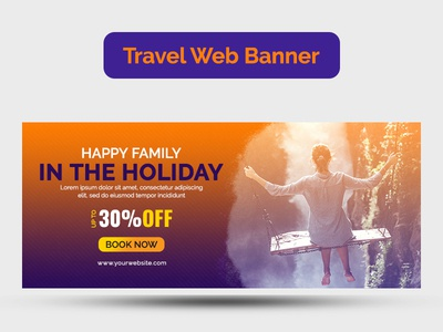 Travel web banner design