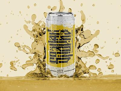 Beer digitalimaging logo calligraphy vector typography illustration design