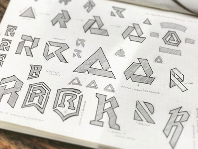 Sketchbook geometric hand drawn illustrator illustration mark typography logo sketch vector type branding