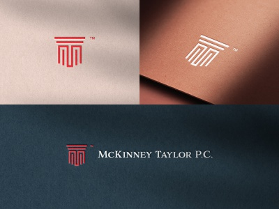 McKinney Taylor Branding law graphic design houston identity vector typography type clean mark emblem icon flat branding brand logo design