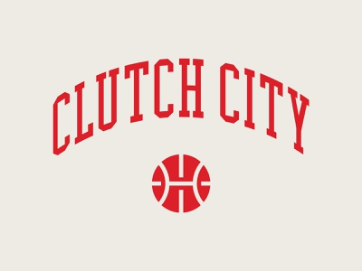 Clutch City clutch nba icon clean minimal illustrator vector rockets houston basketball typography type flat branding