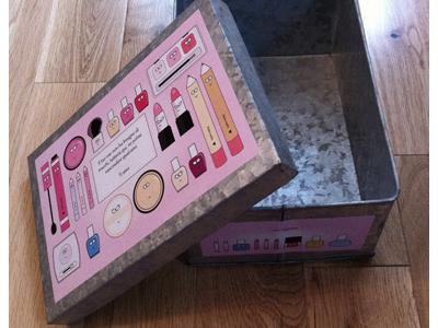 Makeup box illustrations illustration packaging