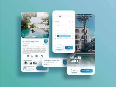 Travel Booking App UI booking component mobile travel apple android daily uidaily uidesign uxdesign interaction ux dailyui ios app ui flat simple design minimal design