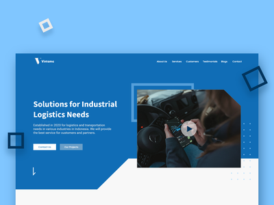 Industrial Logistics Service Website Homepage logistics company cargo company shipping transportation industry delivery service product branding landing page design website ux ui