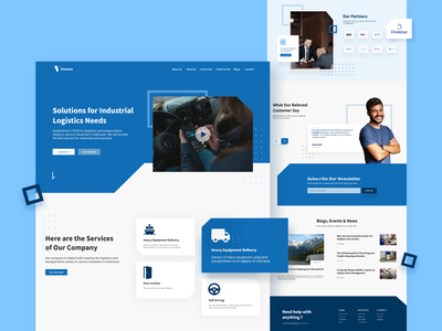 Industrial Logistics Service Website Homepage user experience userinterface clean ui cargo logistics company shipping company branding typography product homepage design website ux ui