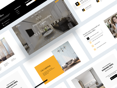 Decorative Light Store Landing Page clean uxdesign uidesign website design minimal typography minimalist landing page website ux ui