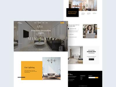 Landing Page for Decorative Lights minimalist minimal website design uxdesign uidesign clean landing page typography website ux ui