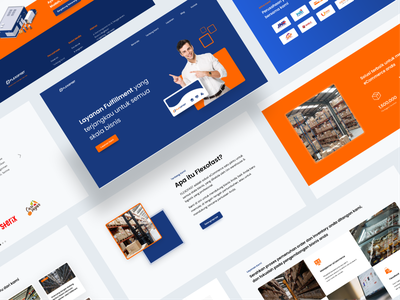 Fulfillment & Warehouse Services Website warehouse logistics company ux ui landing page website typography website design uidesign uxdesign clean