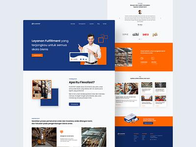 Fulfillment & Warehouse Services Website website design uxdesign uidesign clean website landing page logistics company warehouse ux ui