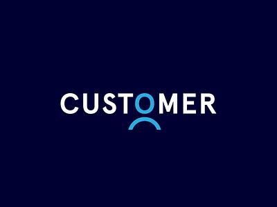CUSTOMER typography type lettering flat vector logo design identity icon branding