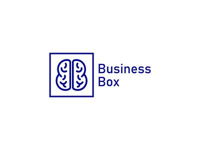Business Box illustration app minimal flat vector design logo identity icon branding
