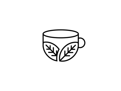Cup + Leaves icons illustrator icon icon design illustration vector minimal flat design logo identity