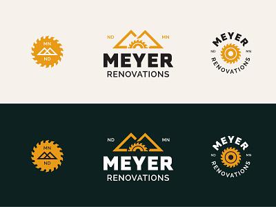 Meyer Reno contractor carpentry saw logo construction home renovation