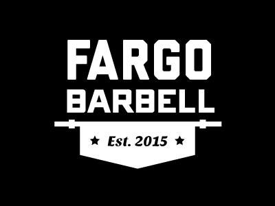 Fargo Barbell Banner logo weightlifting gym crossfit banner barbell fargo