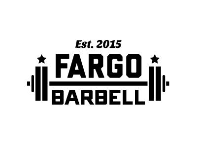 Fargo Barbell logo weightlifting gym crossfit banner barbell fargo