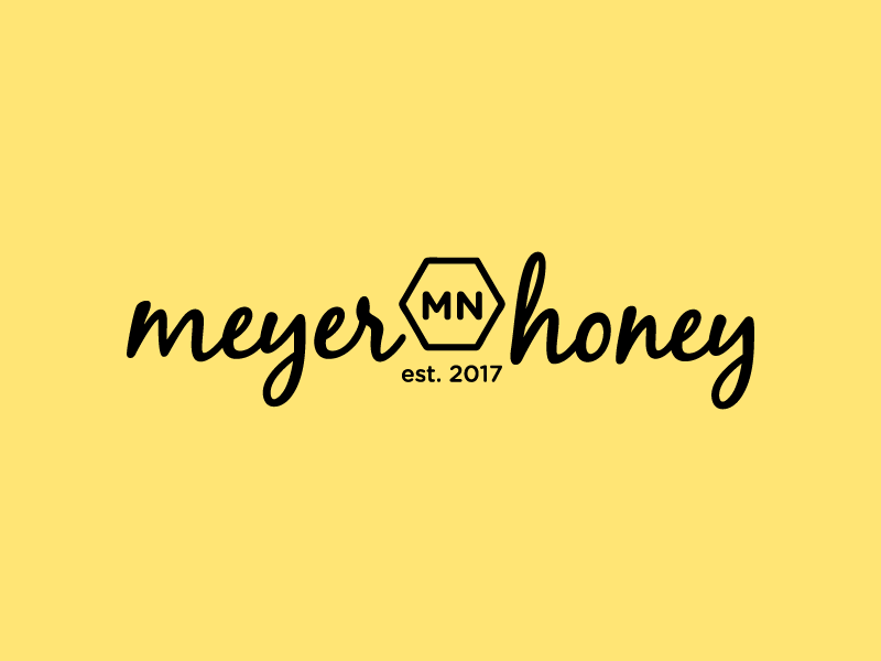 meyer honey minnesota local craft artisan logo honey